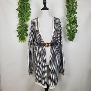 BCBGeneration Open Front Houndstooth Cardigan